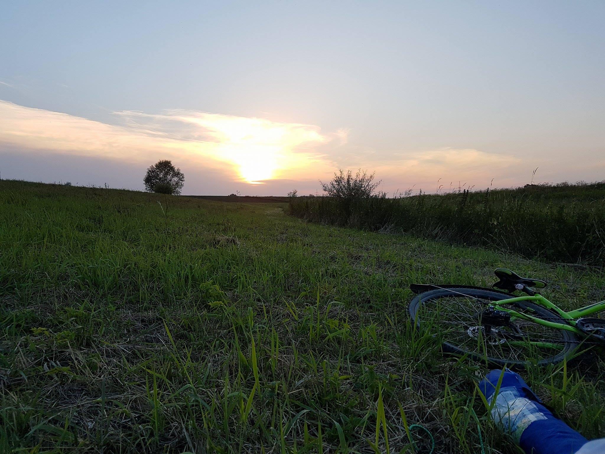 zachód słońca nad Wisłą