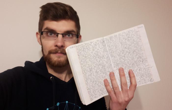 pisać dziennik
